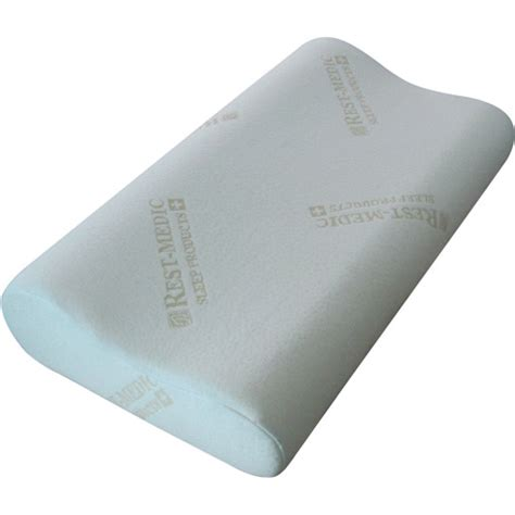 memory foam bed rest pillow rest medic contour memory foam pillow walmart com