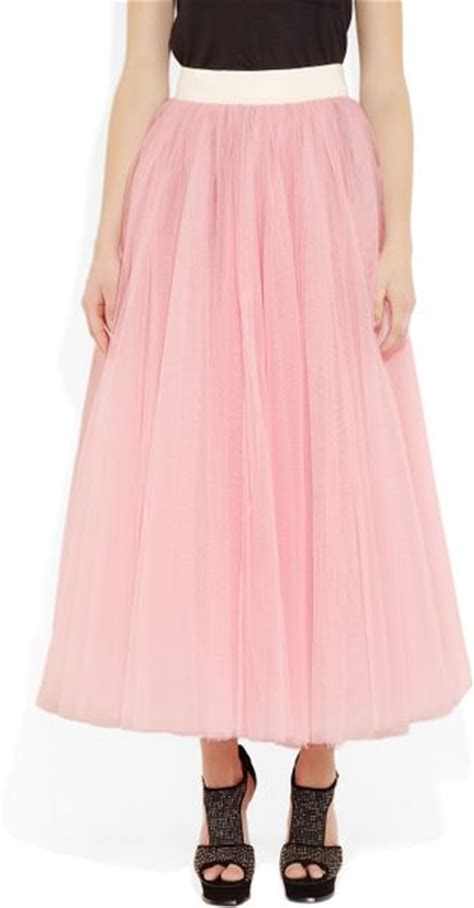 d g tulle maxi skirt in pink lyst