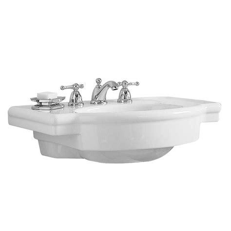 standard retrospect pedestal sink standard retrospect 27 in w pedestal sink basin