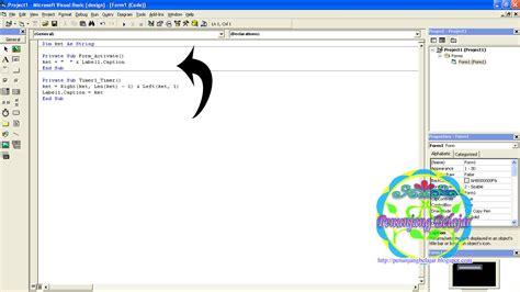 membuat gambar berjalan dengan html cara membuat teks berjalan dengan visual basic 6 0