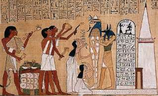 This is showing the ritual opening of the mouth the