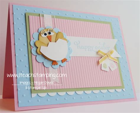 Easter Handmade Cards - easter punch handmade greeting card i teach