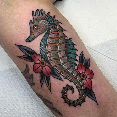 tattoo new school sea traditional seahorse tattoo designs www pixshark com