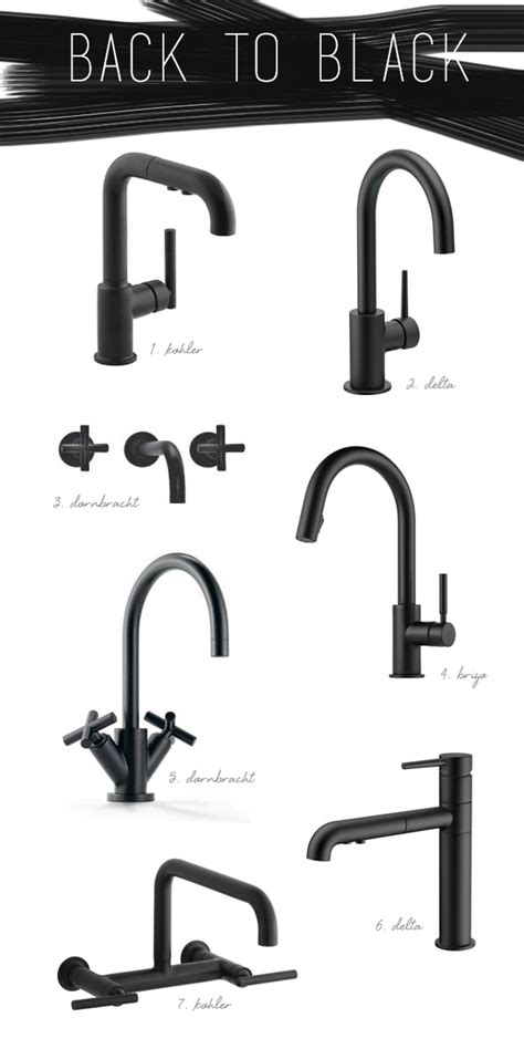 kitchen and bathroom faucets kitchen trend black vs brass coco kelley kitchen