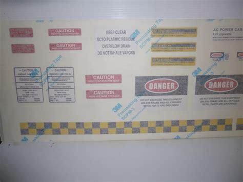 Cutting Stiker 3m Autofilm 1 Set ecto 1 equipment replica sticker decals kit 1 1