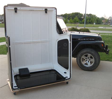 jeep wrangler storage tj lj yj hardtop storage cart