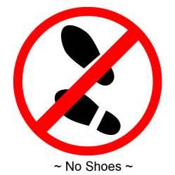 No Shoes Clipart no shoes allowed sign clipart best