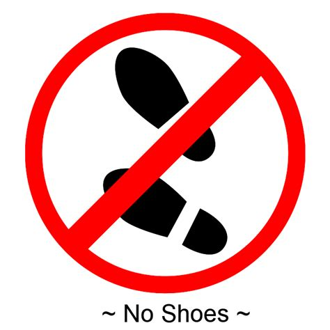 no shoes sign for house no shoes allowed clip art 14