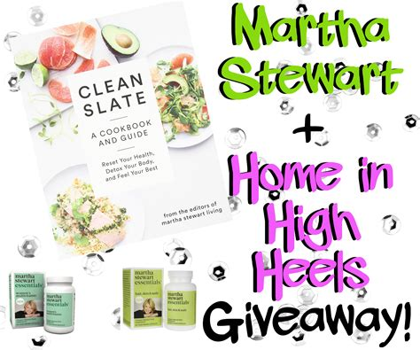 Martha Stewart Living Giveaway - martha stewart healthy living review giveaway home in high heels