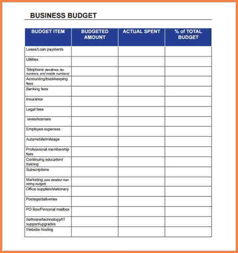 Business Monthly Expenses Spreadsheet by 5 Business Monthly Expenses Spreadsheet Excel