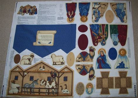 pattern for fabric nativity scene 61 best cut sew panels images on pinterest doll