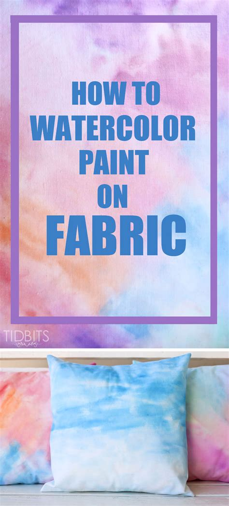 how to watercolor paint on fabric tutorial ella claire