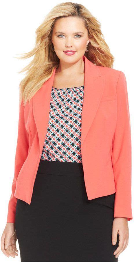 7 Gorgeous Blazers by Beautiful Color Plus Size Blazer Coral Plus Size