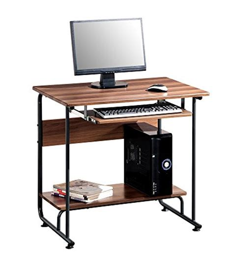 Modern Small Pc Computer Desk With Keyboard Tray Make Compact Desk