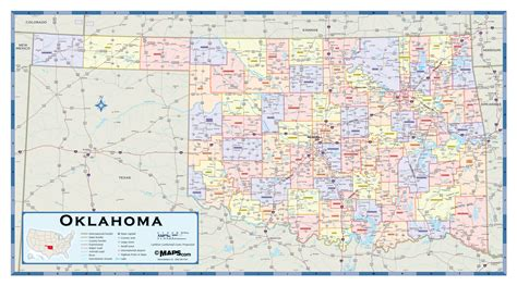 map of oklahoma counties oklahoma counties wall map maps