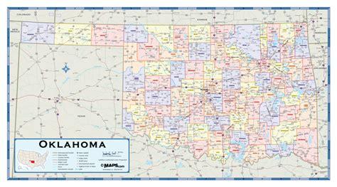 oklahoma counties map oklahoma counties wall map maps