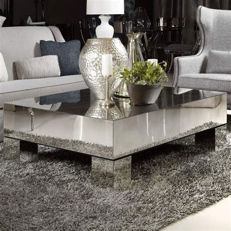 Mirrored Coffee Tables Estelle Mirrored Coffee Table From Bernhardt Coffeetable Mirror Pieces Tabled
