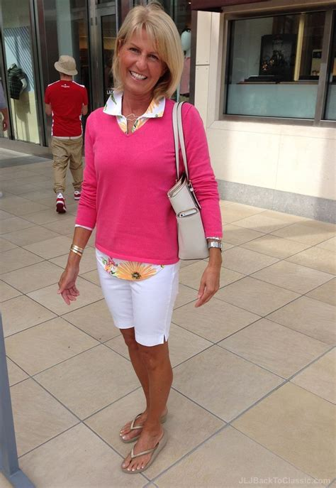 style women over 90 classic summer preppy fashion over 40 clothes