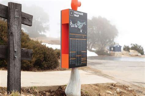 buro signage falls creek wayfinding signage by b 252 ro landscape