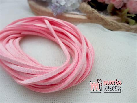 Bahan Baku Aksesoris Craft Murah Bunga Mawar Satin tali suede pink tlc 021 montemanik pusat bahan
