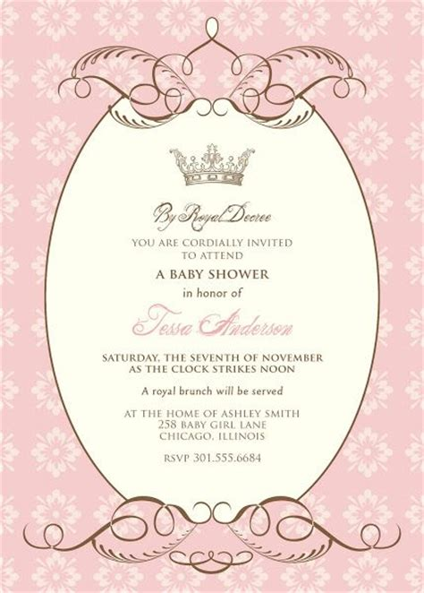 Free Princess Baby Shower Invitation Templates the world s catalog of ideas