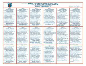 Printable Nfl Schedule Printable One Page Nfl Schedule My Blog