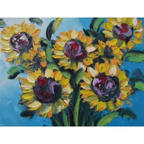 Lukisan Timbul lukisan motif bunga matahari timbul lukisan motif bunga