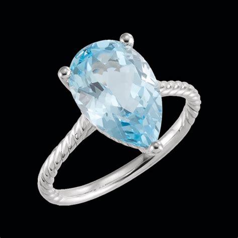 Ring Blue Topaz Sky sky blue topaz rope ring