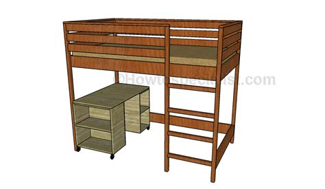 loft bed with desk plans howtospecialist how to build