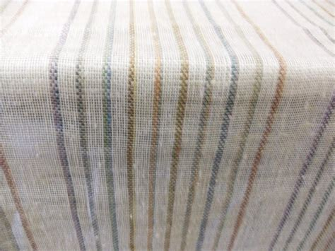 open weave drapery fabric multi color ivory linen stripe open weave drapery fabric