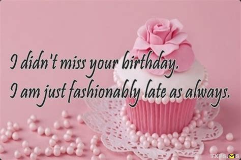 Belated Birthday Wishes Quotes Best Belated Birthday Image Quotes And Sayings Page 1