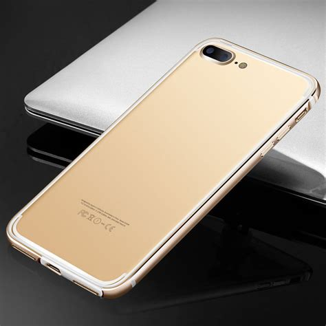 Bumper Hardcase For Iphone 6 1 clear plastic back aluminum metallic bumper cover for iphone 6 7 plus ebay