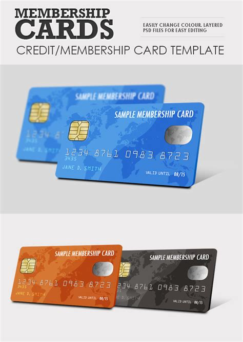 membership cards template member card smart template