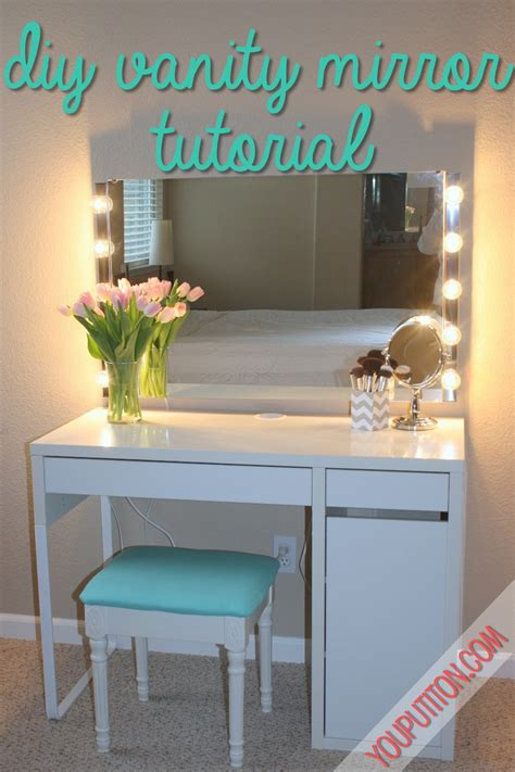 Diy Vanity Mirror by Diy Vanity Mirror Tutorial You Put It On