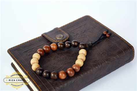 Gelang Tasbih Gaharu Riza Craft Magelang Jawa Tengah gelang kayu stigi asli kombinasi ukuran besar 171 jual