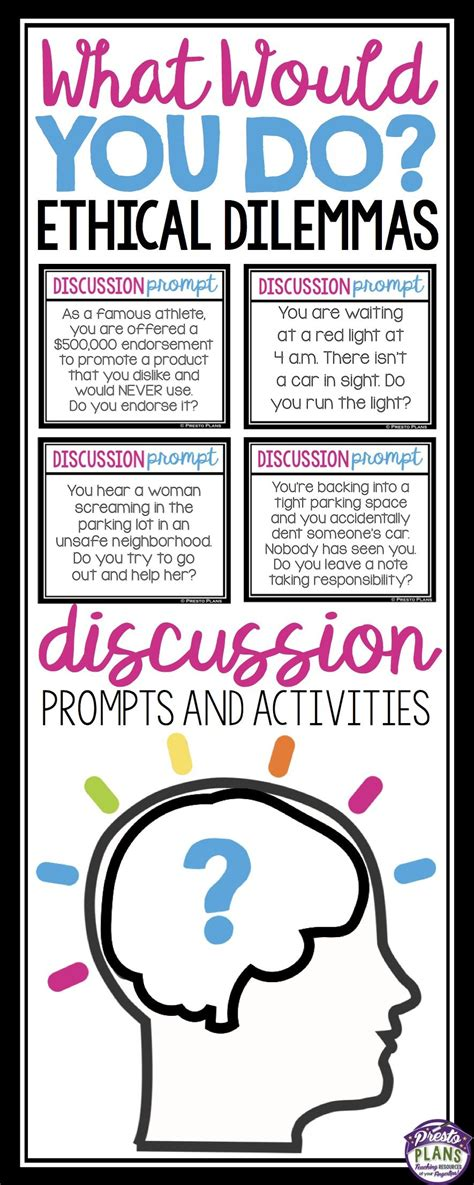 7 Tips For On Sparking Up A Conversation by Discussion Activity What Would You Do Prompts