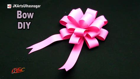 How To Make Bows Out Of Wrapping Paper - diy easy paper bow gift wrap how to make jk arts 1051