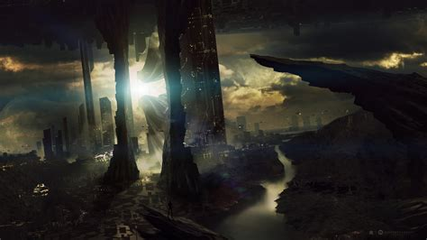 wallpaper abyss sci fi landscape full hd wallpaper and background image