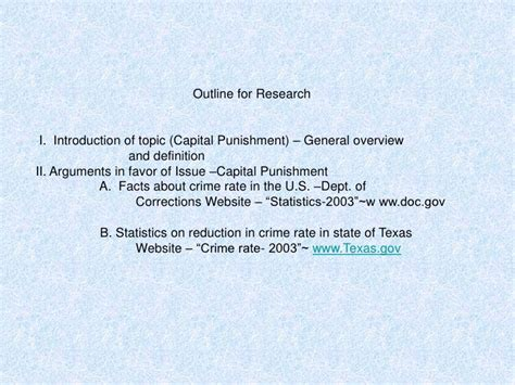outline for penalty research paper outline for an argumentative essay on penalty