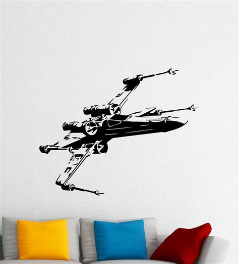 os1457 x wing fighter wall decal star wars spaceship vinyl