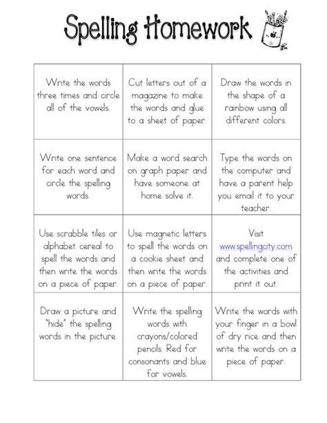 spelling and vocabulary teachers 1407141864 spelling homework for my kiddo bingo homework bingo and spelling