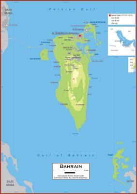 physical map of bahrain bahrein geographischen karte