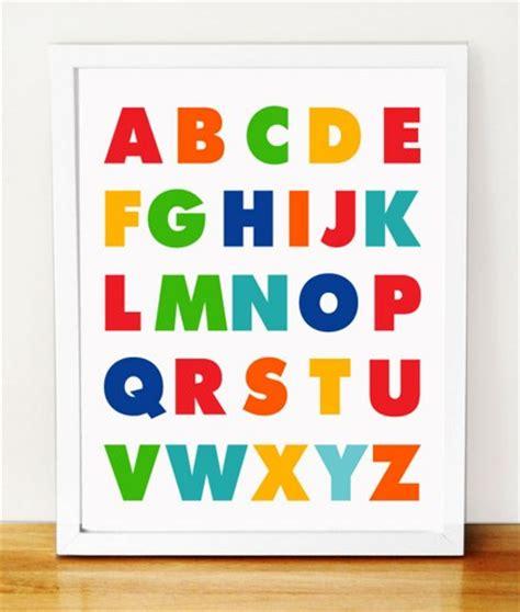 abc nursery decor abc alphabet poster print childrens alphabet poster