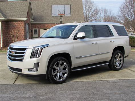cadillac escalade 2017 pearl white 2015 cadillac escalade esv start up road test and in