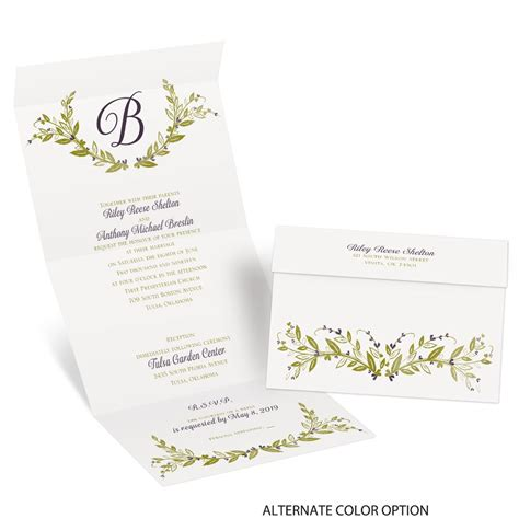 Seal And Send Wedding Invitations by Budding With Seal And Send Invitation Invitations