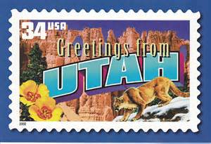 usps greetings from utah postcard flickr photo