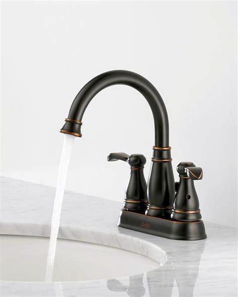 delta porter bathroom faucet delta porter 4 in centerset 2 handle high arc bathroom