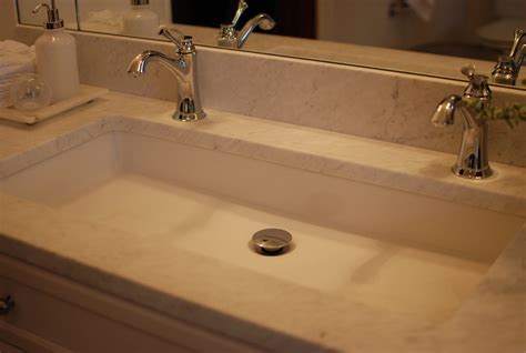 undermount trough bathroom sink shannon schnell large trough sink with two faucets