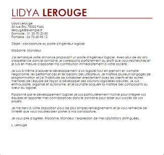Exemple De Lettre De Motivation Ingénieur Exemple Lettre De Motivation Ing 233 Nieur Logiciel Livecareer