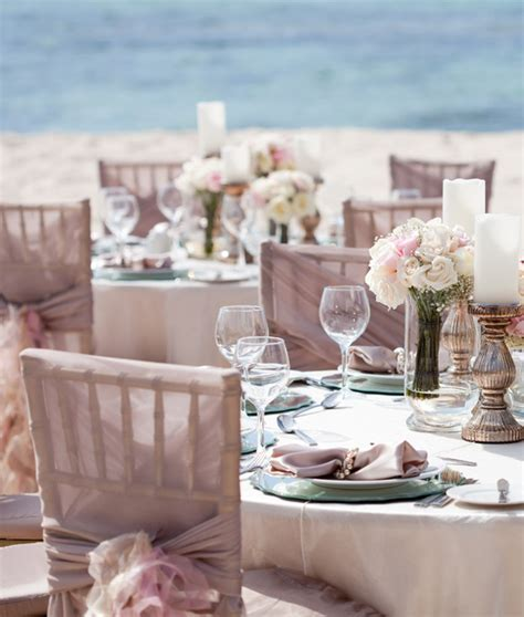 2015 blush pink destination beach wedding reception